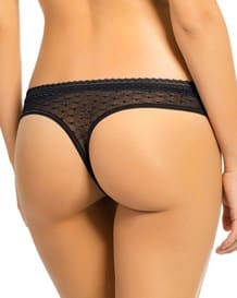 sensual lace thong panty-700- Black-MainImage