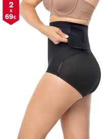 high-waisted firm tummy compression postpartum panty with adjustable belly wrap--MainImage