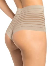 lace stripe high-waisted cheeky hipster panty-802- Nude-MainImage