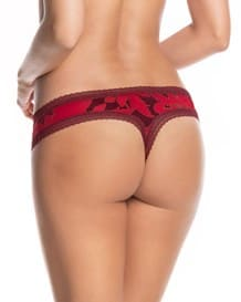 smooth personal fit thong-927- Red-MainImage