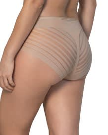 lace stripe undetectable classic shaper panty-802- Nude-MainImage