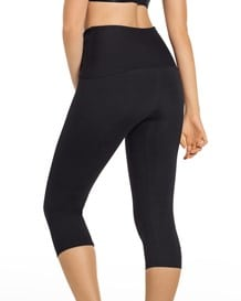 high-waisted moderate compression capri - activelife-700- Black-MainImage