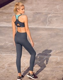 mid-rise moderate compression butt lift legging - activelife-779- Dark Grey-MainImage