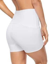 tummy and waist control shaper short-000- White-MainImage