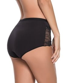 comfy classic hi-cut brief-700- Black-MainImage