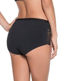 algodon hi-waist panty with lace-700- Black-MainImage