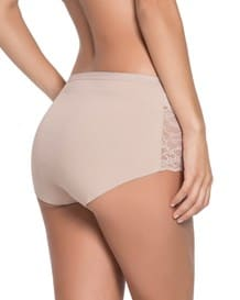 algodon hi-waist panty with lace-802- Nude-MainImage