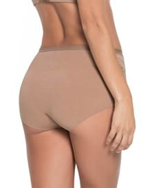 algodon hi-waist panty with lace-857- Brown-MainImage