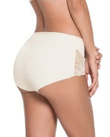 algodon hi-waist panty with lace-898- Ivory-MainImage