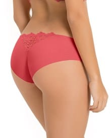 seamless cheeky hiphugger panty with lace top back--MainImage