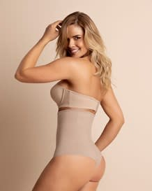 strapless tummy sculpting body shaper with thong-802- Nude-MainImage