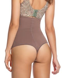 strapless tummy sculpting body shaper with thong-868- Mocha-MainImage