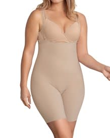 invisible strapless mid thigh body shaper with moderate compression--MainImage