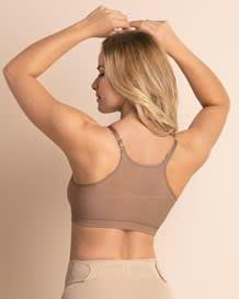 super comfy wireless back support nursing bra-857- Brown-MainImage