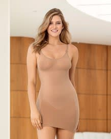 slimming cami slip with rear lifter-087- Natural-MainImage