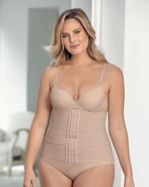 3-belt adjustable slimming waist cincher-802- Nude-MainImage