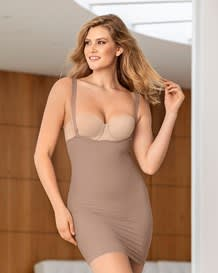 undetectable shaping skort slip-857- Brown-MainImage