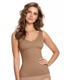 double-v undetectable padded shaper tank-857- Brown-MainImage