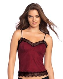 sexy crop top en gamuza y encaje-174- Burgundy-MainImage