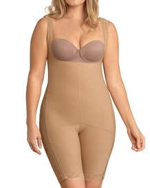 power body shaper with thighs slimmer-880- Nude-MainImage