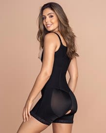 firm compression boyshort body shaper with butt lifter - front hook--MainImage