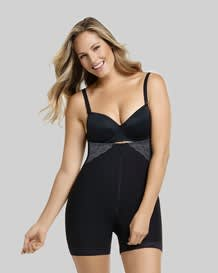 strapless lacy firm compression bodysuit shaper short with butt lifter--MainImage