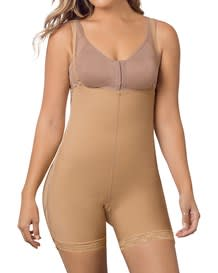 double take open bust firm compression post-surgical body shaper-880- Nude-MainImage