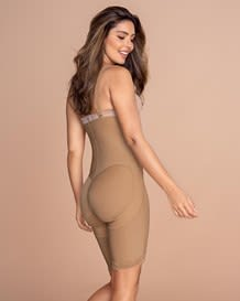 strapless body shaper - firm compression waist to knee-880- Nude-MainImage