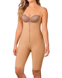 slimming braless body shaper with thighs slimmer-880- Beige-MainImage