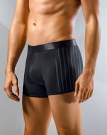boxer leo con tecnologia de ajuste perfecto-713- Black/Stripes-MainImage