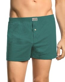 leo pure cotton boxer short-064- Green-MainImage