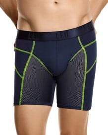 leo fresh mesh sport boxer brief-510- Dark Blue/Neon Green-MainImage