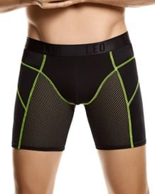leo fresh mesh sport boxer brief-701- Black/Neon Green-MainImage