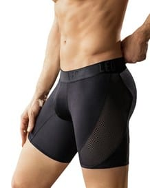 leo cool mesh sport boxer brief-700- Black-MainImage