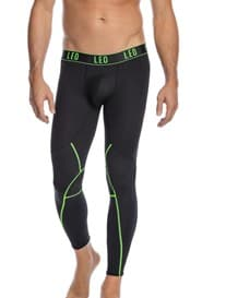 mens mesh cutout moderate compression legging-700- Black-MainImage