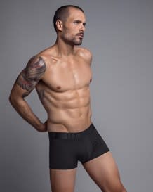 leo smart fit microfiber short boxer brief-700- Black-MainImage