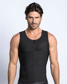 mens firm body shaper vest with back support - maxforce--MainImage