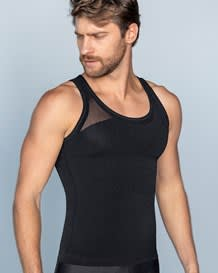 new leo crew neck seamless control tank-700- Black-MainImage