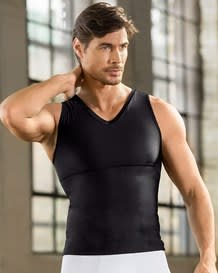 mens v-neck moderate compression tank--MainImage