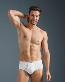 mens open fly cotton classic brief--MainImage