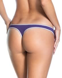 3-pack cotton low-rise thong panty-S25- Assorted Purple-MainImage