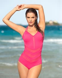 mesh cut-outs one-piece swimsuit--MainImage