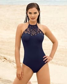 vestido de bano entero con high neck en macrame-509- Dark Blue-MainImage