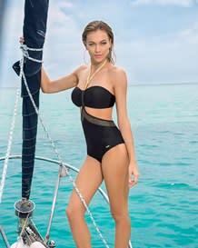 trikini estilo bandeau con acabado brillante-700- Black-MainImage