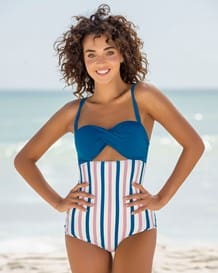 high energy cutout one-piece bathing suit-513- Stripes-MainImage