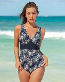 vestido de bano entero clasico con control de abdomen-509- Blue-MainImage