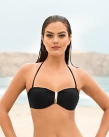 strapless bandeau top with golden clip-700- Black-MainImage