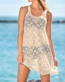 sheer tank lace beach dress--MainImage