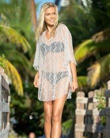 vestido corto en malla ideal para la playa-018- Ivory-MainImage