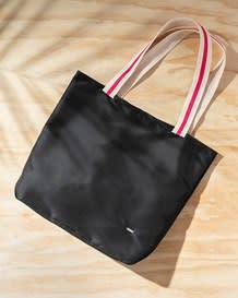 black contrast stripe handle tote bag-700- Black-MainImage